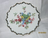 Mid Century Parakeet China Plate/ Transferware Plate/Mid Century Plate/ Wall Hanging By Gatormom13  JUST REDUCED