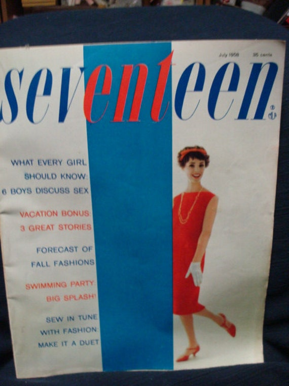 Seventeen Magazine July 1958 Elvis Ad