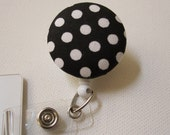 Swivel Clip Badge Reel in Dot