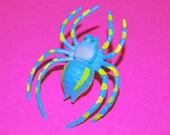 Light Blue and Yellow Spider Ring