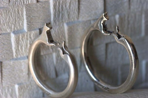 RESERVE FOR JUSTICE - German Shepherd sterling silver ring size 7 adjusts to size 8.5 shiny finish