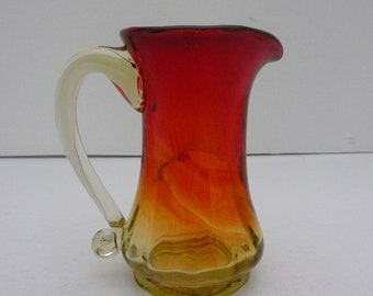 Miniature Amberina Glass Pitcher