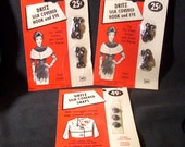 Vintage Dritz Silk Covered Snaps and Hooks and Eyes 1960s Clothing Closures