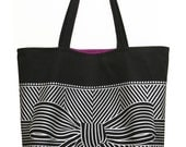 Big bow large black tote bag