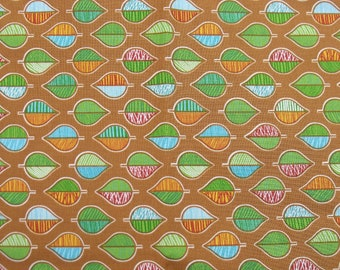 Cotton Fabric, 1/4 Yard, Fresh Meadows Leaves, Brown, Rust, Green, Blue, Quilt, Quilting, Pillow, Home Decor, Additional Yardage Available