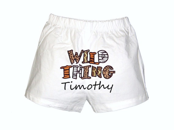 Personalized Boys Boxers Diaper Cover Wild Thing Design Infant Toddler
