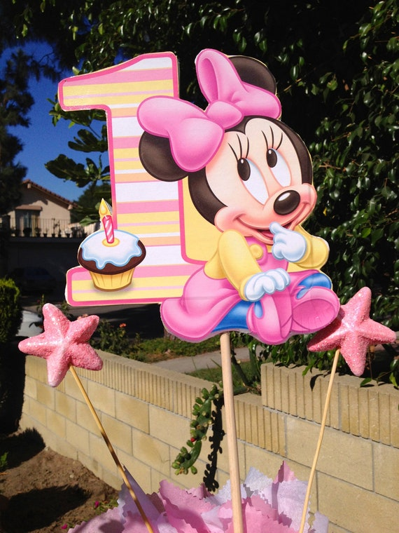 Minnie Mouse 1st Birthday Centerpieces Baby Minnie Mouse Centerpiece