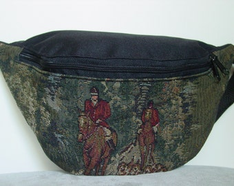 Equestrian Horse Fox Hunt Scene   Tapestry Large  Fanny Pack