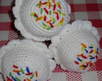 Crochet Vanilla Cone with Sprinkles