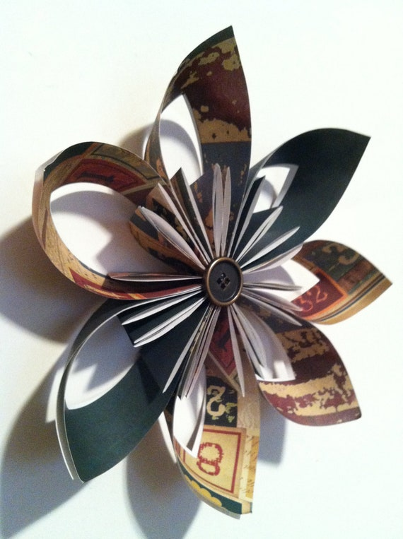 Sale- 40% off, Medium Paper Wallflower, origami, home decor, gift, decoration, handmade, one of a kind, ready to ship