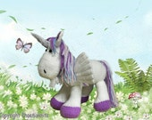 The Pegacorn an enchanting cross between  a Unicorn and a  Pegasus  :  Pattern only IMMEDIATE DOWNLOAD