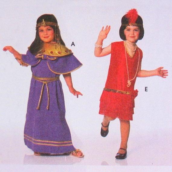Scarecrow Costume Pattern, Hercules, Cleopatra, 1920s Flapper Dress, Roman Greek Toga  - McCalls No. 347 UNCUT Size 3, 4, 5, 6, 7, 8