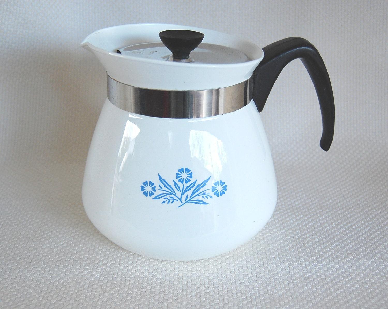 Vintage Corning Ware Cornflower Blue 2 Qt Beverage Warmer