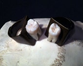 PRE-ORDER - Tooth Fairy Series: Chunky Style Adjustable Ring with Whole Real Human Molar