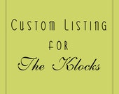 Custom Listing for John & Priscella