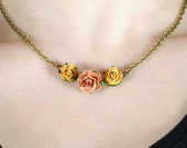 Rust Rose Necklace