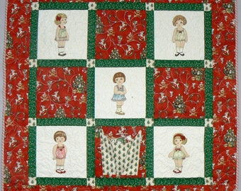 Christmas Paper Doll Quilt