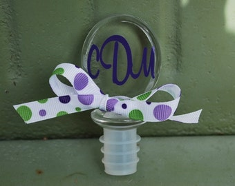 Personalized Acrylic Wine Stopper - Monogram Wine Stopper