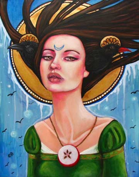 Celtic Goddess Avalon fairy pagan signed  8x10 print