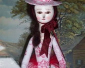 Primitive Queen Anne Inspired OOAK Art Doll, Miss Maggie, by Julie Bailey