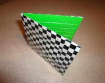 Duct Tape Wallet (Checkers with Green)
