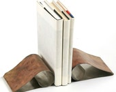 Stainless Steel Curl Book Ends -Eco friendly goods for your home or office.