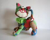 Patchwork Stuffed Kitten