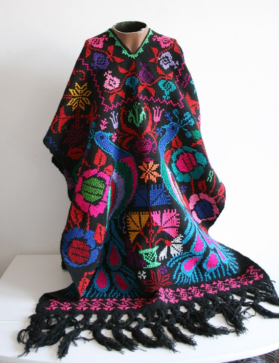 Mexican Peacock Poncho