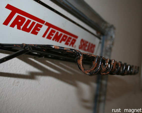 RESERVED FOR SPELLSANDSTEEL True Temper Shears Display with 16 Hooks