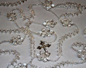 "Breathtaking Crystal Lasso Wedding Rosary,Elegant Wedding Lasso/Lazo,Crystals, 3""  Plated Crucifix"
