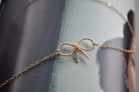 Gold Bow Knot Bracelet