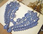Floral Lace Lavender Necklace