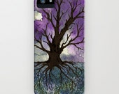 Tree of Life Phone Case - Gothic Watercolor Painting - Designer iPhone Samsung Case