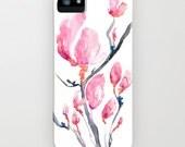 Floral Phone Case Japanese Magnolia - Zen Art - Designer - Designer iPhone 6S Plus or Samsung Case
