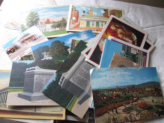 Nice lot of 25 plus Vintage Postcards Post card Places