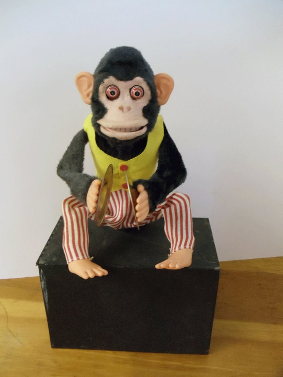 Vintage Monkey with Clapping Cymbals 1960's - WORKS - Battery Operated - TOY STORY 3 monkey