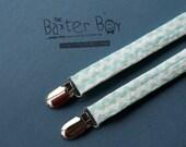 Aqua chevron suspenders, little boy suspenders - photo prop, wedding, ring bearer, accessory