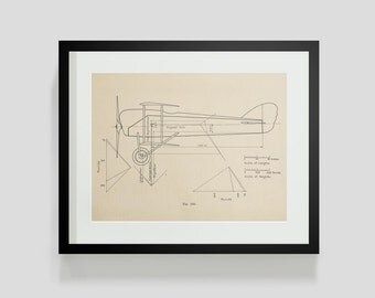 Vintage Flying Machine, Airplane Print 3