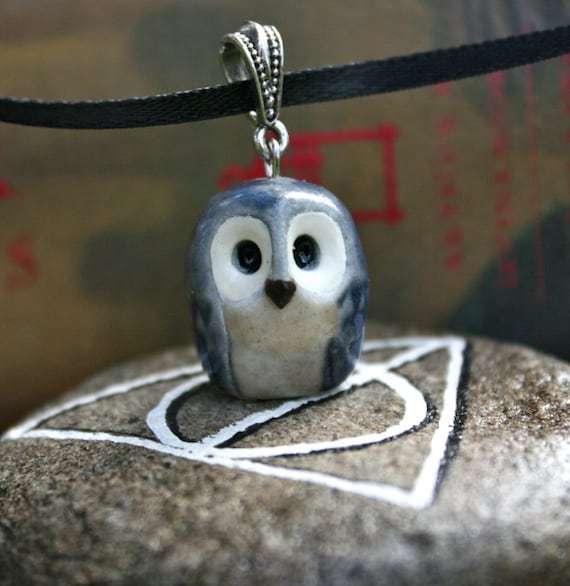 Blue Ravenclaw Owl Necklace: Harry Potter Inspired
