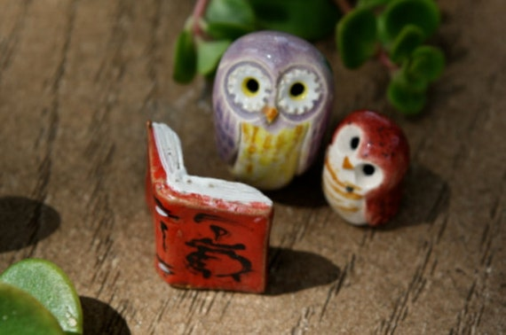 Hogwarts Standing Open Book Red Harry Potter inspired Pottery