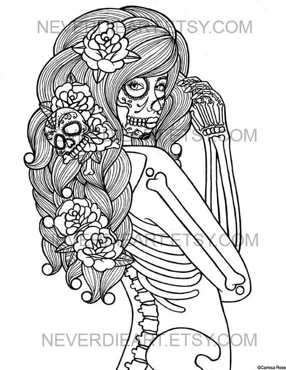 digital download print your own coloring book outline page midnight motif by carissa rose - Print Your Own Coloring Book