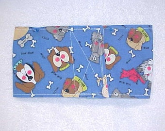 Male Dog Belly Band Diaper Pet Wrap  Doggie Pants Dogs On Blue Custom Sizes To 22 Inches