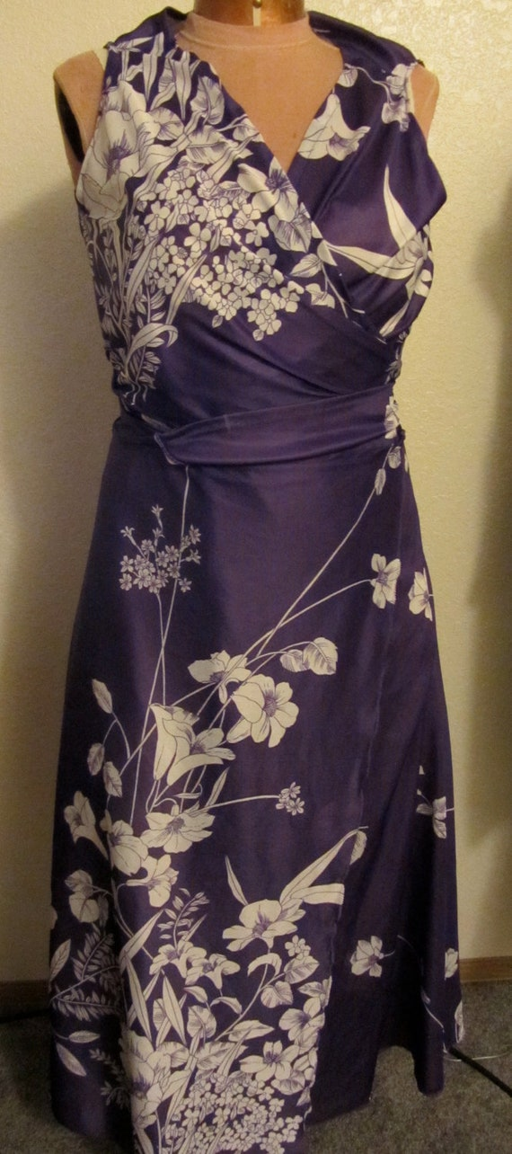 Purple Hawaiian Wrap Top and Skirt Mix and Match 80s Size S-M Adjustable Wow Your Friends