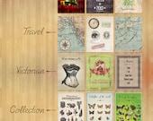Miniature Dollhouse Posters Vintage / Medieval / Victorian digital download 3cm x 4cm