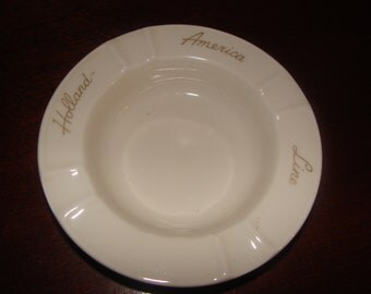 Vintage Advertising Holland America Line Ashtray - Maastrich Holland - Cruise Ship collectible