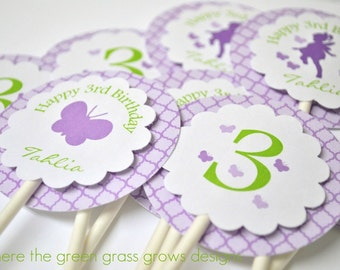 Butterfly Fairy Cupcake Toppers
