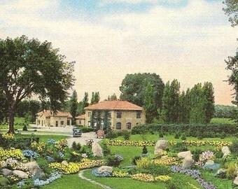 Bloomington-Normal Sewage Disposal Plant Vintage linen Postcard