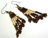 Ivory and Bronze Earrings