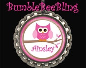 Children's Jewelry - Personalized Owl Necklace - Custom Owl Pendant - Kids Jewelry - Children Owl Necklace