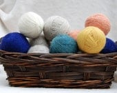 Felted Dryer Balls-5-enough for small AND large laundry loads
